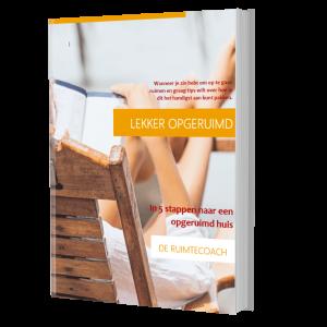 Gratis e-book van De Ruimtecoach over opruimen