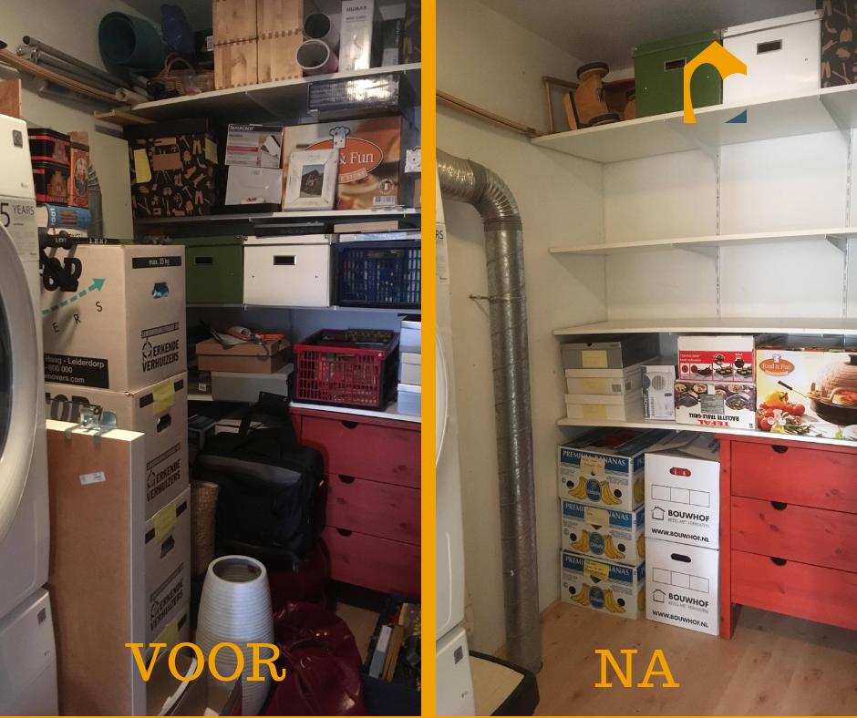 Voor en na zolder